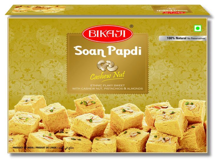 Soan Papdi with Cashew Nuts